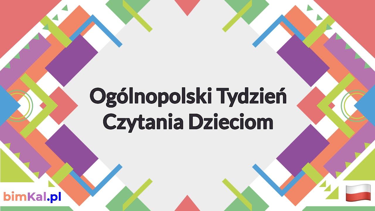 Ogólnopolski Tydzień Czytania Dzieciom